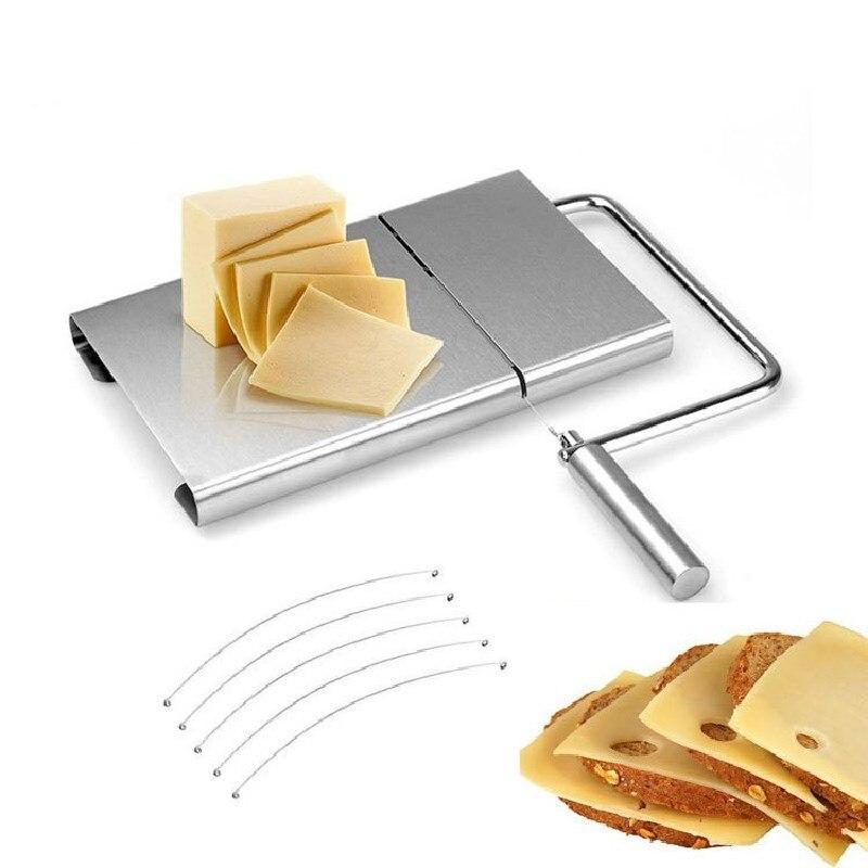 1 шт. слайсер для сыра сменный режущий провод из нержавеющей стали нож для резки шоколадного масла десертный инструмент кухонная Терка мног...