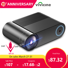 VIVICINE 720p HD LED Projector,Option Android 9.0 Portable HDMI USB 1080p Home T