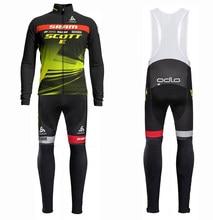 2021 scotte esportes ao ar livre de fitness ciclismo conjuntos jérsei dos homens ciclismo manga longa terno camisa ciclismo roupas