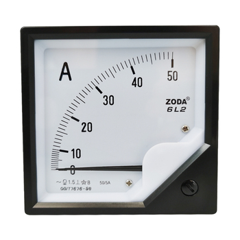 1PC 6L2-A 50/5A 200/5A 400/5A 600/5A AC Analog Meter Panel AMP Current Ammeter Gauge Use With Transformer 80*80MM Amperimetro dp 816 2000 5a class 0 5 10va split core current transformer window type current transformer