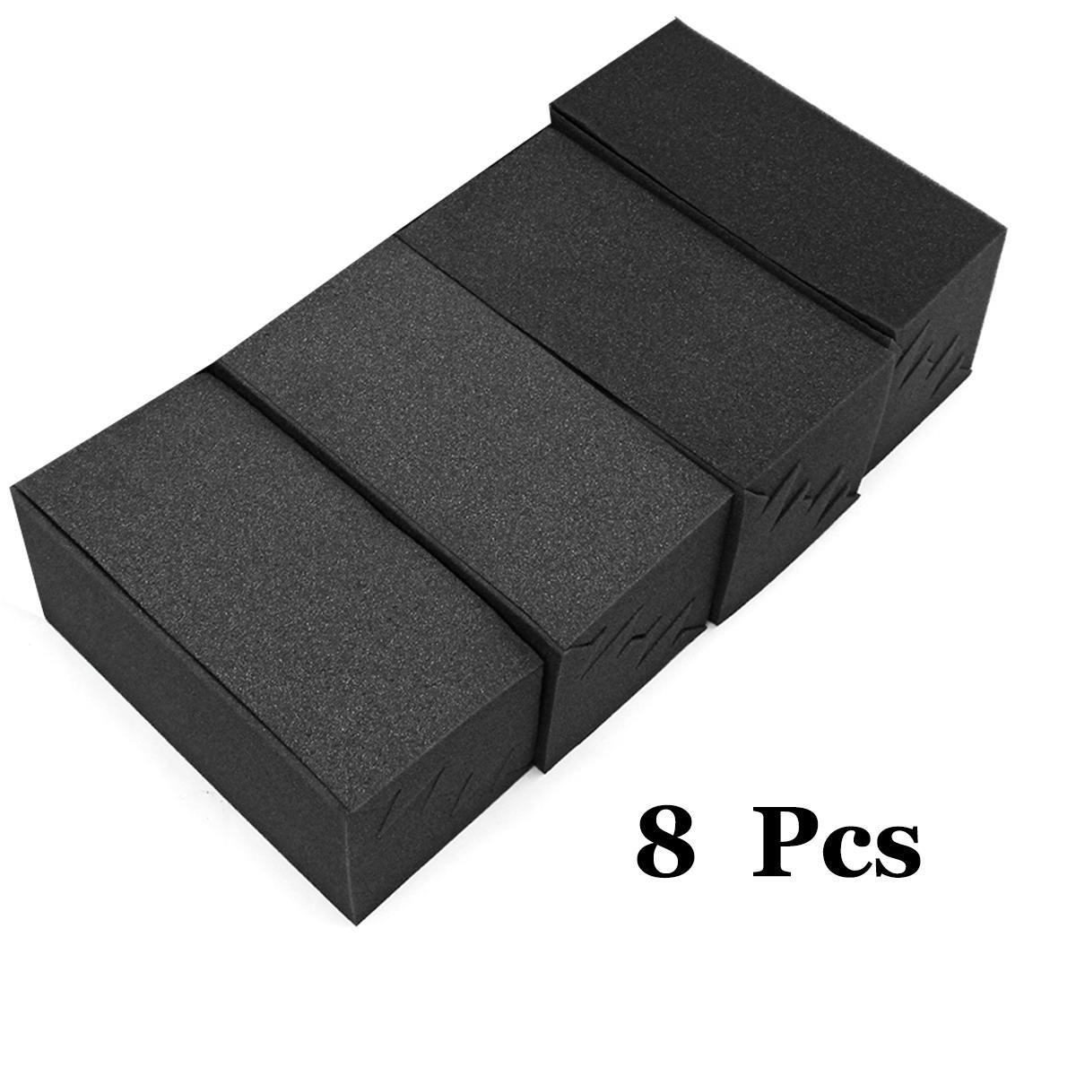 8Pcs 12x11x24cm Soundproofing Foam Acoustic Foam Noise Sound Treatment Studio Room Absorption Wedge Tiles Polyurethane Foam