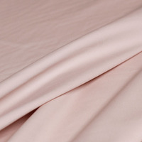 Imported high count pure cotton stretch yarn card fabric light pink autumn windbreaker trousers fabric for women's wear