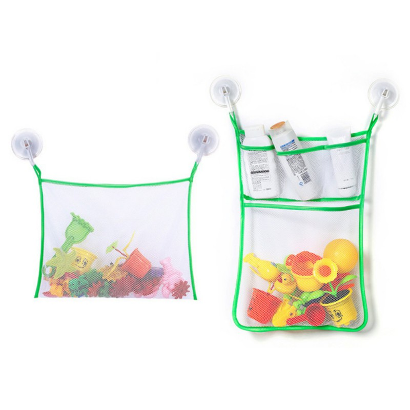 Baby Toy Mesh Bag Bath Bathtub Doll Organizer Suction Bathroom Bath Toy Stuff Net Baby Bath Bathtub Toy Kids Bath Game Bag