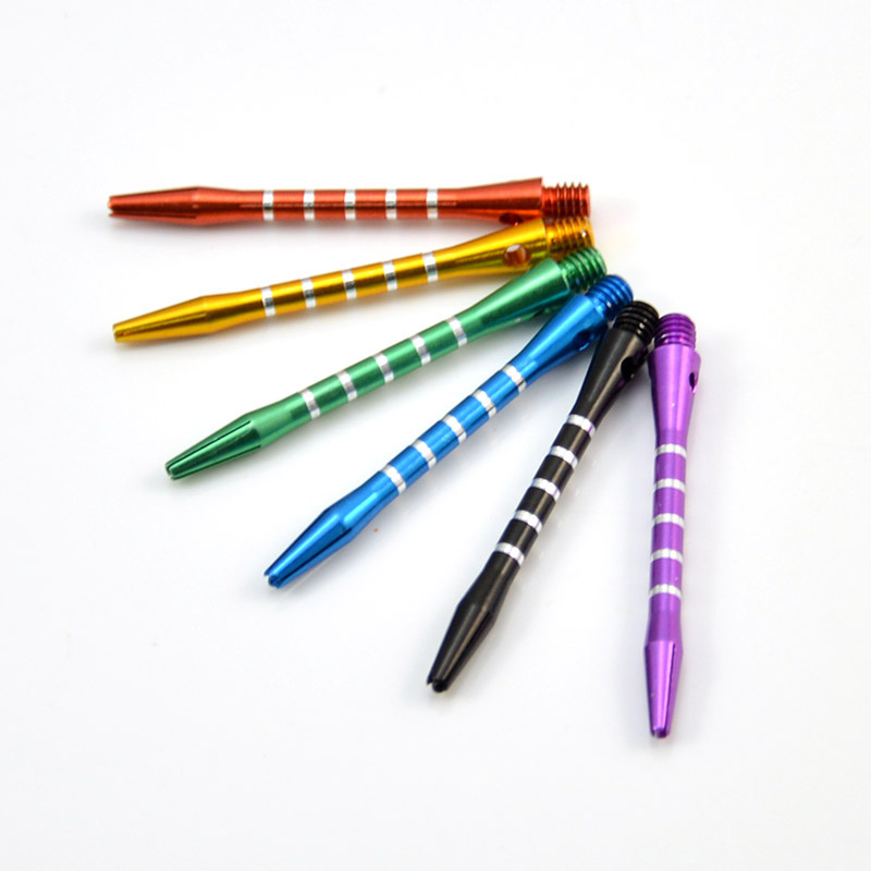 6PCS Aluminum Alloy Darts Shafts Harrows Dart Stems Mixed Color 4.5mm Thread
