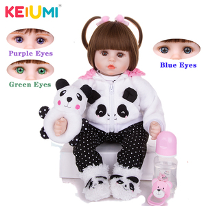 Limited Collection Reborn Baby Doll Cloth Body Stuffed Lifelike Babies Alive Doll Cosplay Panda Toy For Toddler Birthday Present(China)