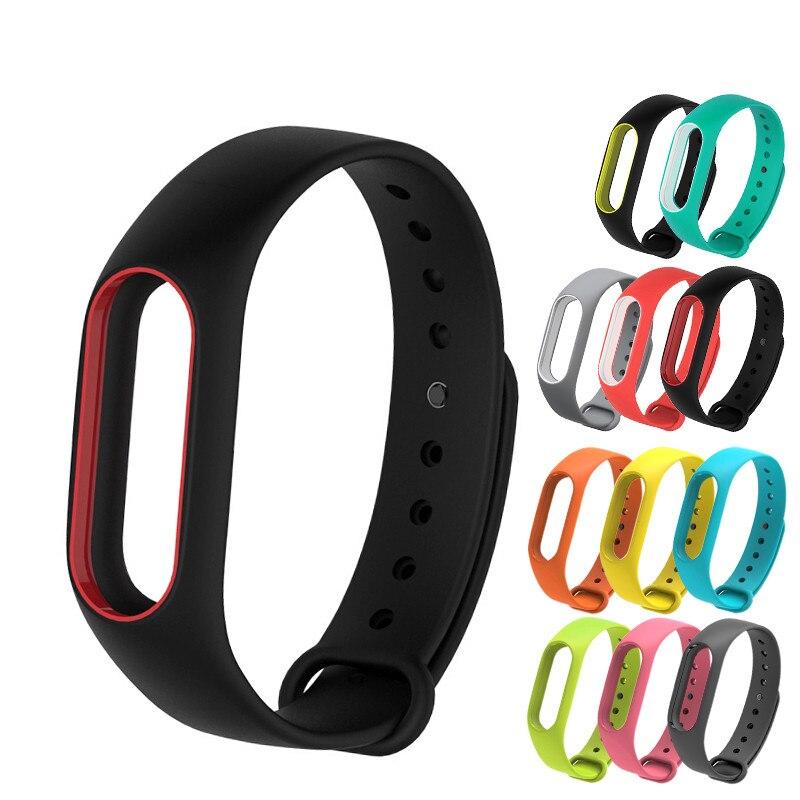 Super Discount Wrist Strap For Mi Band 2 Belt Silicone Colorful Wristband For Mi 2 Smart Bracelet For Xiaomi Band 2 Accessories