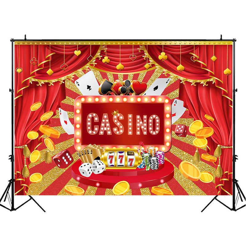 MOCSICKA wszystkiego najlepszego z okazji urodzin czerwone zasłony fotografia tło kasyno tematyczne dekoracje na imprezę urodzinową fotografia tła