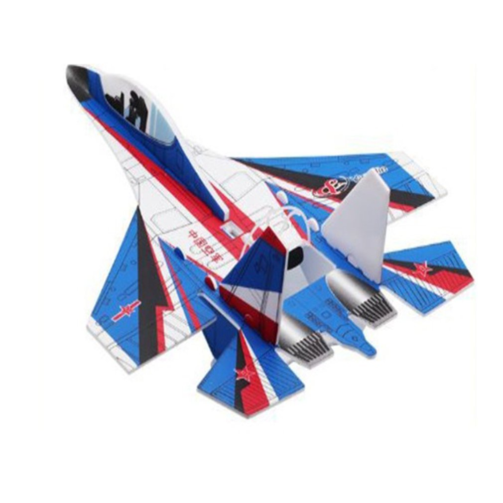 Foam Electric Aircraft <font><b>Model</b></font> Aircraft Fall Resistant Gyro Diy Children'S Toy Charging Usb Outdoor Hand Throw Glider <font><b>Model</b></font> image