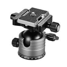 Cncデュアルパノラマボールヘッド低重心シングルuノッチ1/4インチネジ一眼レフカメラ用ildcカメラ三脚