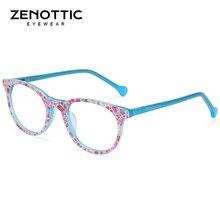 ZENOTTIC оптические очки для близорукости, оправа для девочек, розовая ацетатная модная оправа для очков, детские милые прозрачные оправы для очков, детские