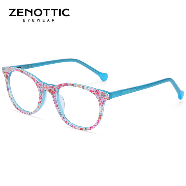 ZENOTTIC Optical Pink Cute Eyeglasses  1