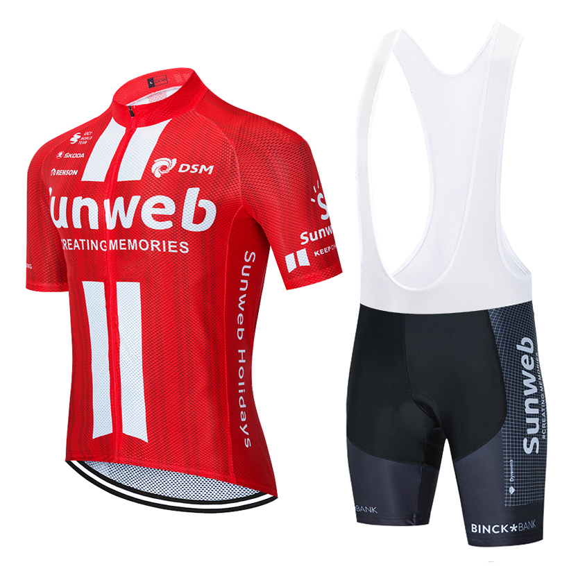 2020 New Sunweb Cycling Team Jersey 20D Bike Shorts Set Ropa Ciclismo MENS Summer Quick Dry BICYCLING Maillot Bottom Clothing