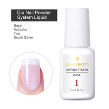 BORN PRETTY Dipping System Clear Base Top Gel Coat Activator Brush Saver Powder Nail Art Without Lamp Cure