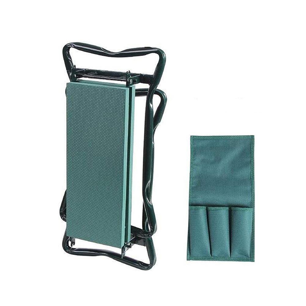 Outdoor Pad With Small Cloth Bag Garden Folding Stool Folding Belt Tool Bag Squatting Bench Cultivation Garden Bench
