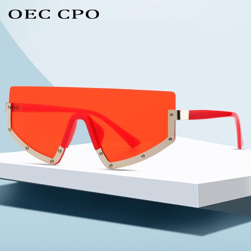 Brand New Design Sunglasses Women Luxury Fashion One Lens Metal Half Frame Unique Appearance Outdoor Photo Sun Glasses Man Retro