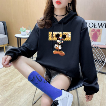 Disney Cartoon Print Sweatshirt Women Cute Mickey Mouse Autumn and Winter Fashion Harajuku Style Round Neck Hoodie
