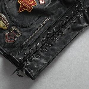 Image 5 - 22085 Read Description! Asian size good quality Cow skin vest mens cowhide leather stylish rider vest
