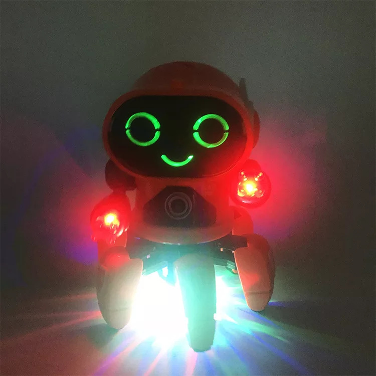 Douyin Celebrity Style Online Celebrity Hot Selling Six-claw Electric Dancing Music Lights Cartoon Octopus Electric Robot