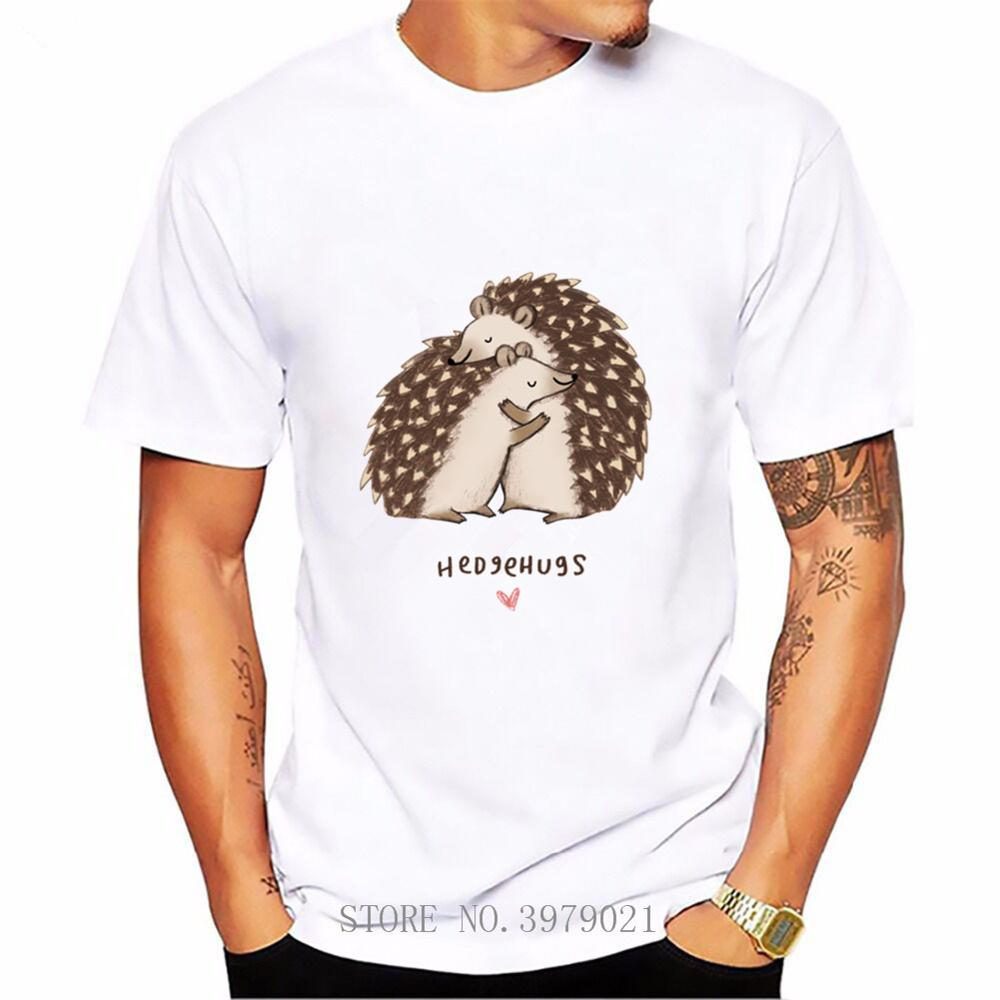 Hedgehugs Мужская футболка с коротким рукавом футболки homme Boyfriend's Day Подарочная футболка