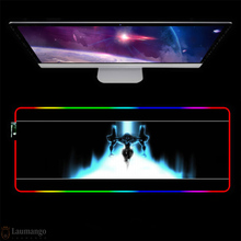 RGB Evangelion Mouse Pad RGB Mouse Pad Large Gaming Xxl Computer Mousepad Led Big Mouse Mat Desk PC Mause Pad with Backlit