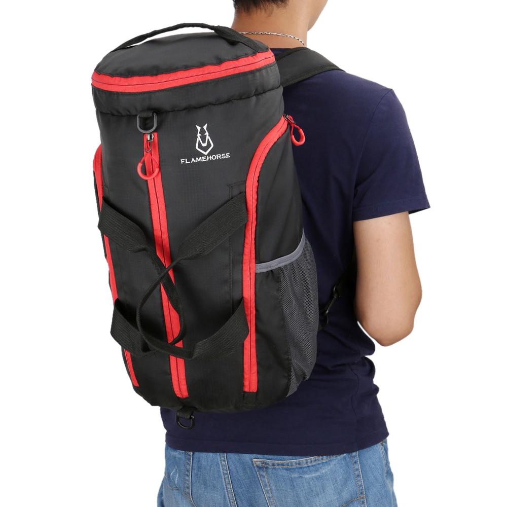 Hafif Packable spor spor Duffel çanta büyük kapasiteli katlanabilir sırt çantası omuzdan askili çanta çanta su geçirmez sırt çantası spor çantası