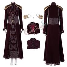 Cersei Lannister костюм Игра престолов Сезон 8 Косплей Элегантный женский наряд