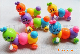Sunsi Le 3021 Winding Toy Colorful Caterpillar Spring Telescopic Worm Crawling  Toy Hot Selling