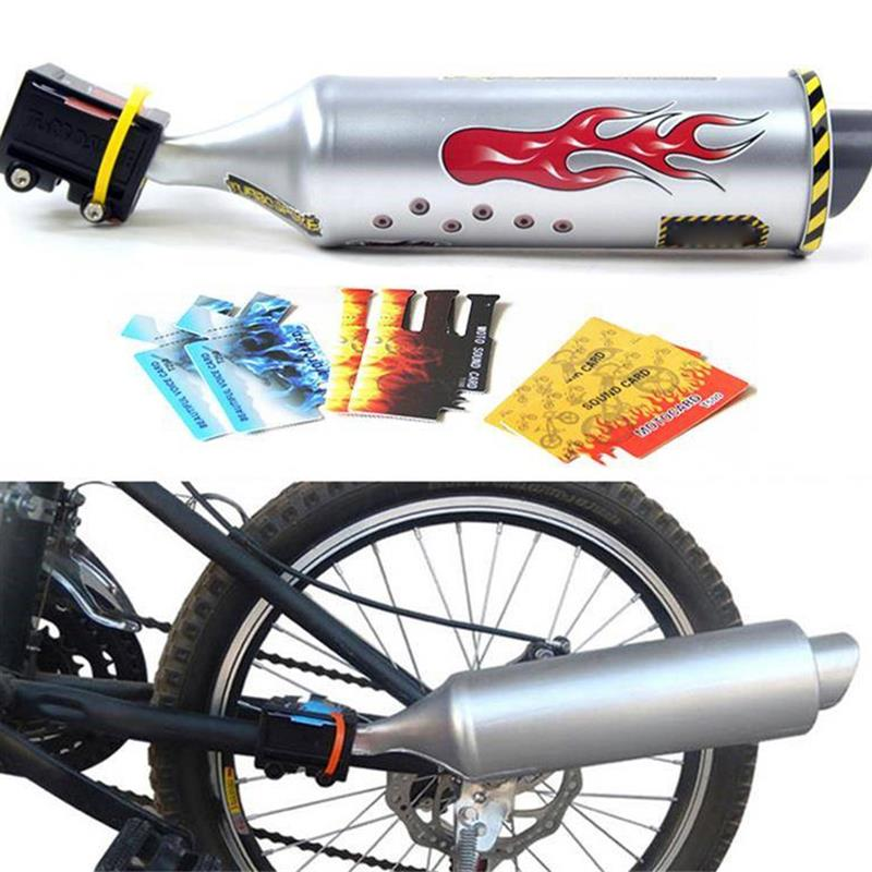 Bicycle Exhaust Sound System Mini Carbon Round Muffler Exhaust Motorcycle Noise Maker Cycling Accessories 1PC