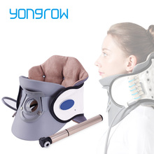 Yongrow medical Inflatable Cervical Neck Traction Adjustable Neck Stretcher Collar Stretching Correction Therapy Health Care
