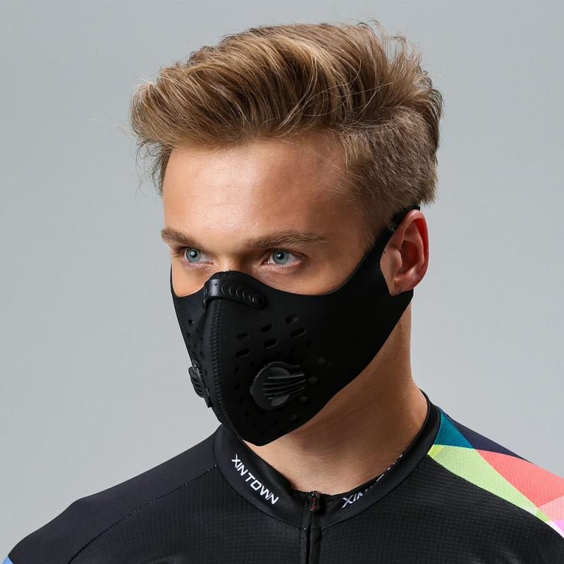 1PCS Cycling Face Shield Space Fiber Windproof Safety Mask With Breathing Valve And Safety Mask Filter