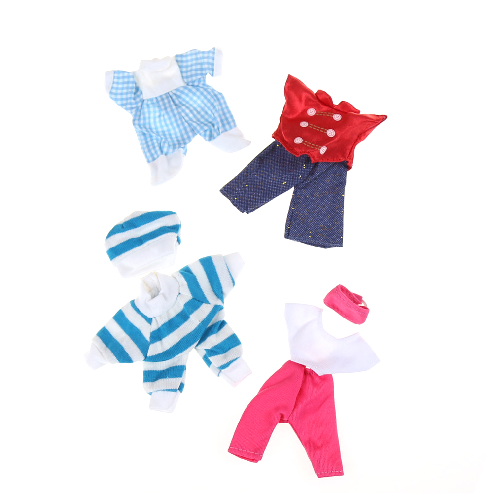 5 Set Clothes Dress Mini For Kelly Or For Chelsea Doll Outfit Beautiful Gift Girls' Love Baby Toy Random Pick Random Color Send