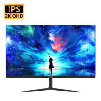 MUCAI 24/27 Inch 2K Monitor 75Hz Desktop PC Lcd QHD Display Gaming Flat Panel Screen Computer LED 2560*1440 HDMI/DP 1