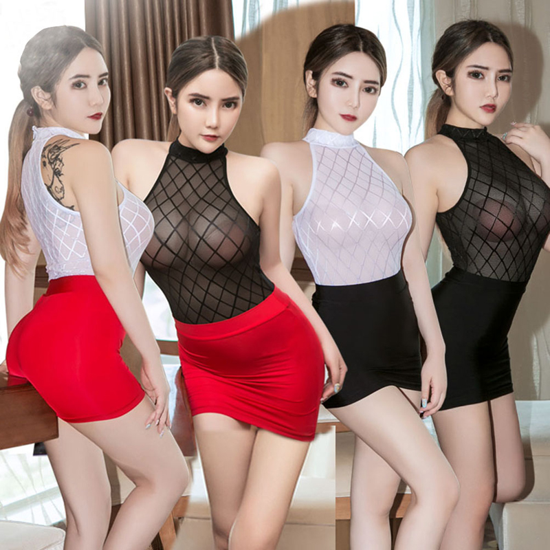 Summer Women Sexy Hot Babydoll Latex Transparent Exotic Skirt Cotton Ladies Clubwear Party Mini Dresses Underwear