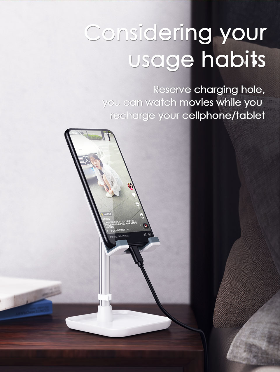Mobile Phone Stand Holder for iPhone iPad Air Smartphone Metal Desk Desktop Phone Mount Holder for Xiaomi Huawei Tablet (10)