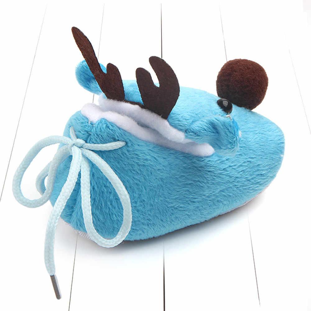 Zapatos de Navidad recién nacido lindo bebé niño niña Navidad cuna zapatos suela suave antideslizante zapatillas de regalo zapatos botte bebe fille