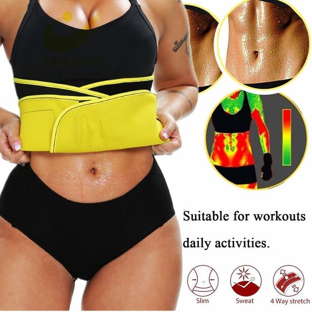 LAZAWG Waist Trimmer Belt Waist Eraser Sauna Sweat Band Waist Trainer for Weight Loss Slimming Body Shaper Sports Girdle Workout 1