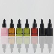 15 мл, несколько цветов, стеклянная капельница с крышкой, белая/черная лампочка, стеклянная бутылка-капельница для эфирного масла, жидкая сыворотка для глаз, упаковка