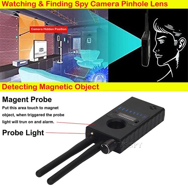 Dual Antenna G528 Anti Candid Hidden Camera Detector RF Signal Secret GPS Audio GSM Mobile Phone Wifi Pinhole Cam Spy Bug Finder 6