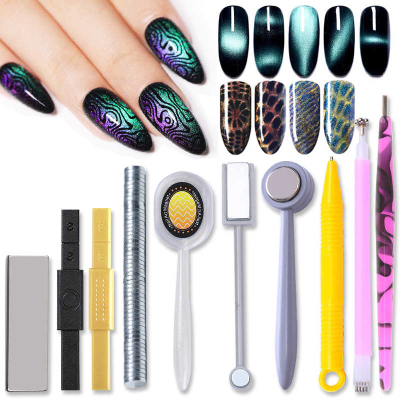 Magnetic Stick Multi-function Magnet Sticks for Cat Eye Nail Art UV Gel Polish Manicuring Nail Art Design Tools 1 Pc