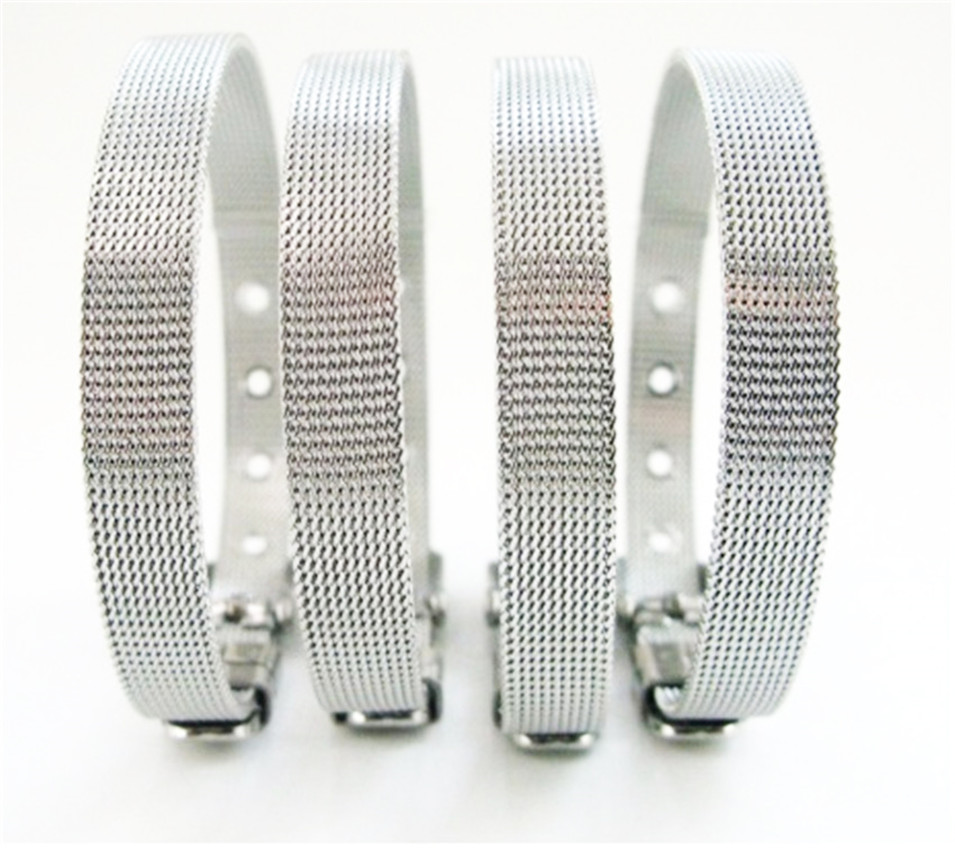 1pc 30mm Plain Chrome Slider Letters Charm A-Z Fit 30mm belt wristband Bracelet