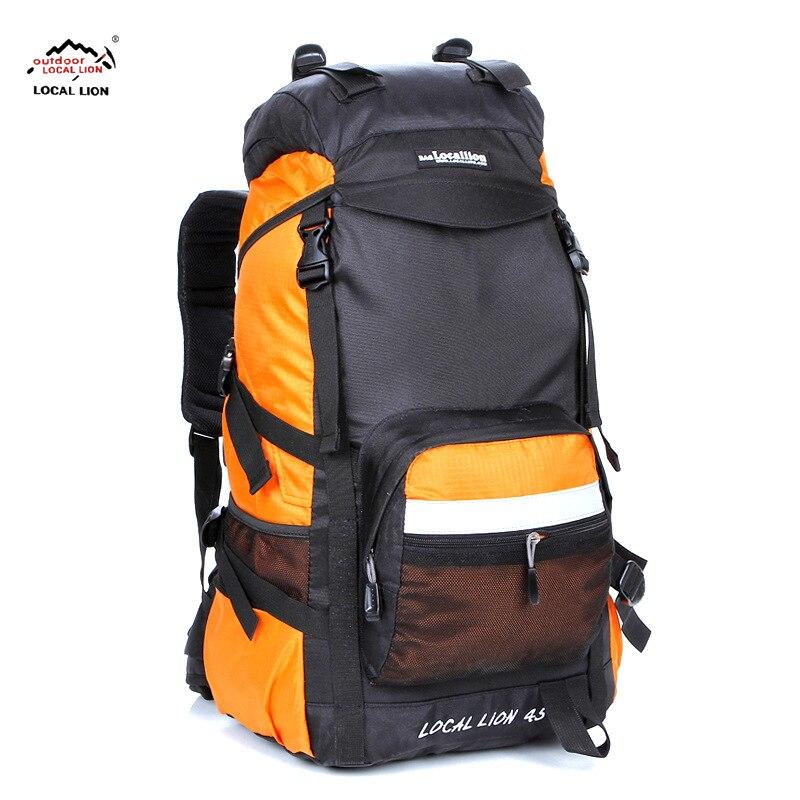 Подлинный продукт, Местный лев, альпинистская сумка, 45 л, походная дорожная сумка, походный рюкзак, рюкзак большой вместимости