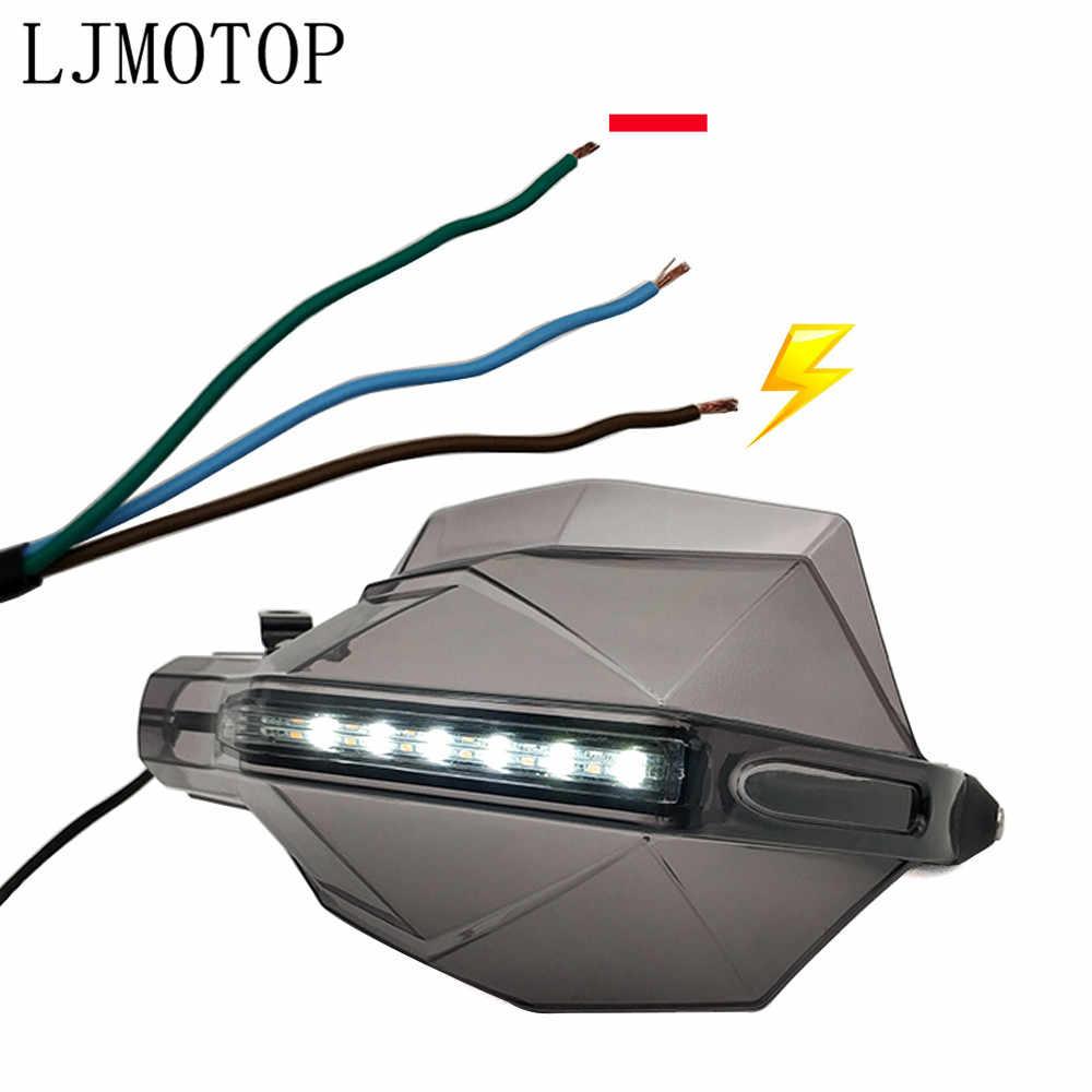 Motocicleta guardamanos señal LED manejar Protector para Suzuki GSXR GSX-R 600, 750 de 1000 K1 K2 K3 K4 K5 K6 k7 K8 K9 Accesorios