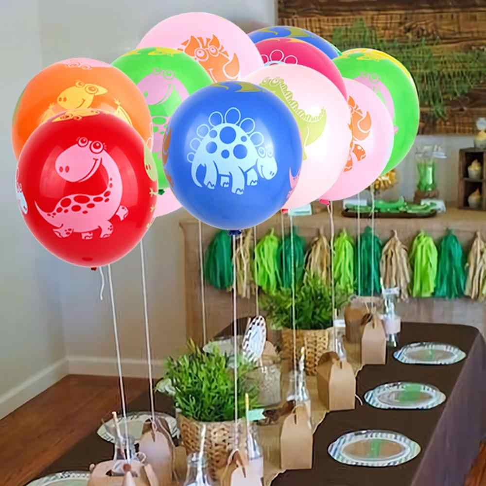 Yeşil folyo Balon tropikal mutlu doğum günü Balon çocuklar Jungle hayvan balonlar Safari dinozor Balon Jurassic dünya parti Balon
