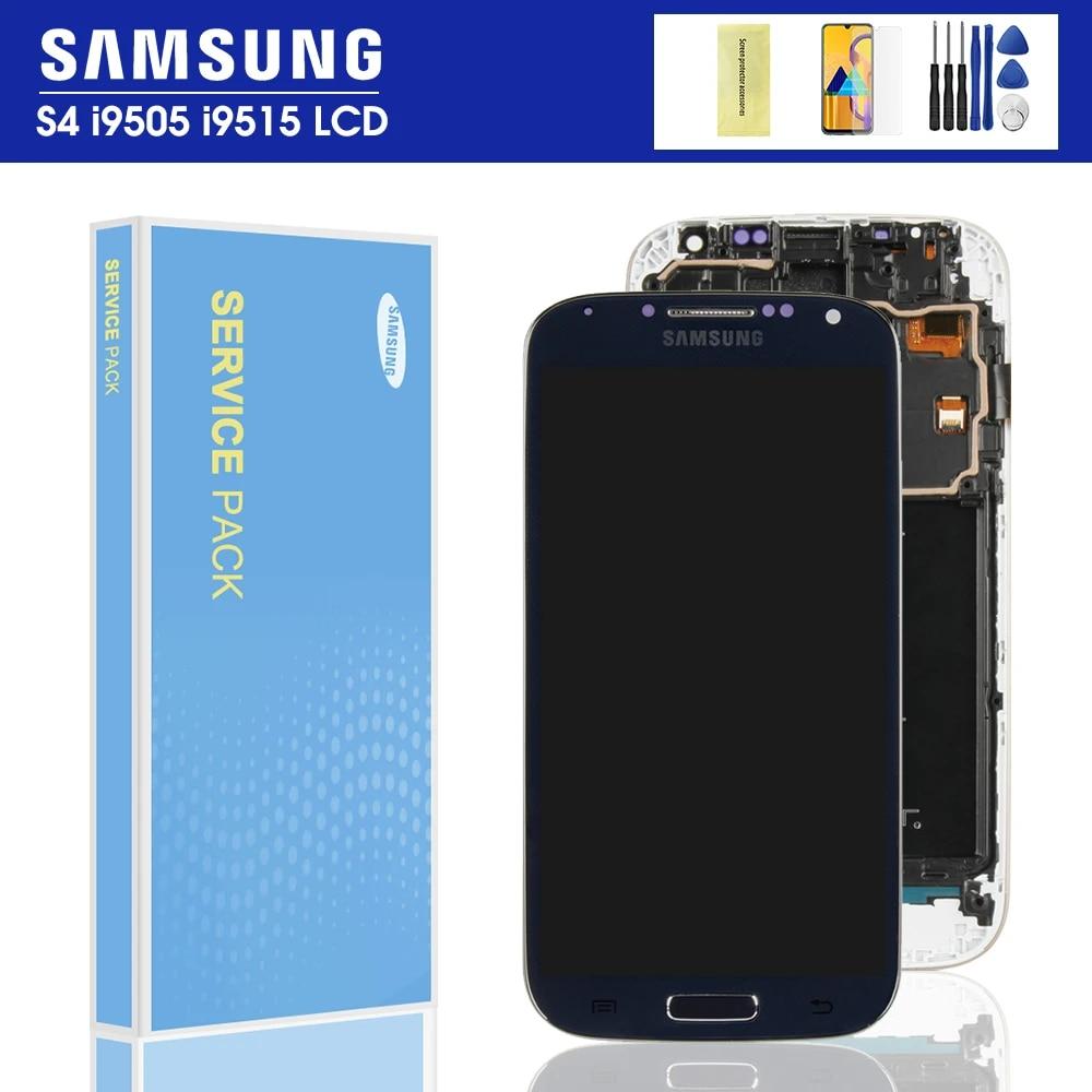 IPS LCD Samsung Galaxy S4 lcd sayısallaştırıcı dokunmatik ekran GT i9505  i9500 i337 LCD ekran çerçeve meclisi ile yedek parçalar|Mobile Phone LCD  Screens