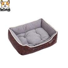 Cama de mascotas invierno moda Vintage gamuza PANA cálido mascota nido portátil extraíble perro canil caja para gatos Dropshipping
