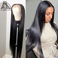 28 30 40 дюймов, бразильские Прямые 13x4 Синтетические волосы на кружеве человеческих волос парики для волос с волосами младенца 180% плотность дл...