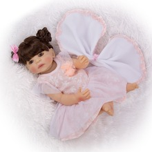 real Bebe girl Reborn Dolls 22'' silicone Reborn Baby Doll Simulation Newborn Doll with princess dress For Children Gifts toy keiumi real 22 inch newborn baby doll cloth body realistic lovely baby doll toy for children s day kid christmas xmas gifts