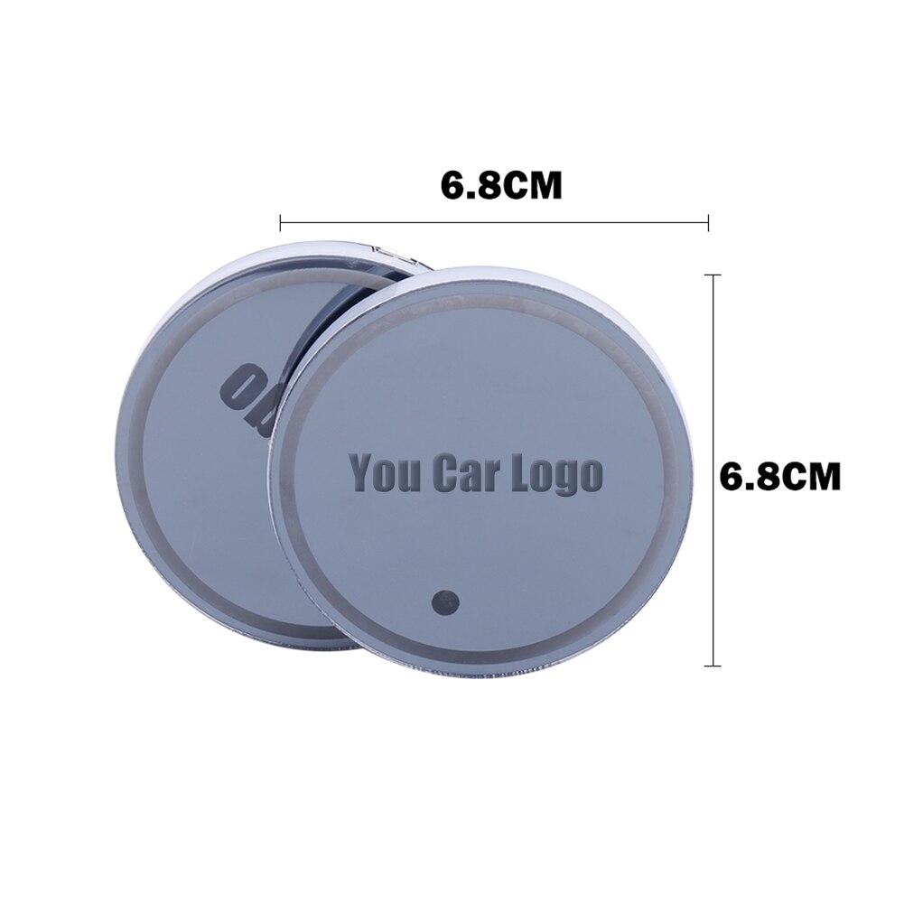 Car Logo Rechargeable Colors LED Light Cup Mat Pad Coasters Auto Interior Decor Automóveis Interior Holder Mats Coasters Bottl