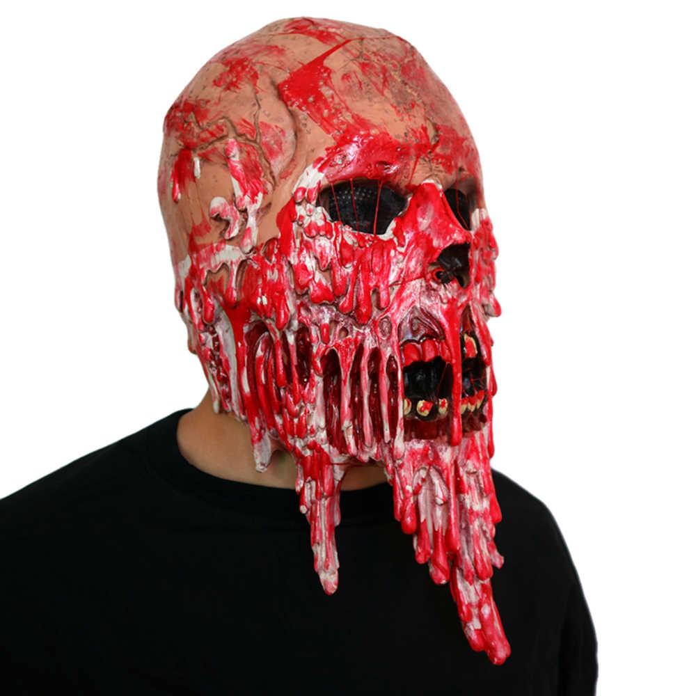 Maschere di Halloween Spaventoso Sanguinante Zombie Maschera Cosplay Del Partito Del Cranio Del Diavolo Horror Masque Masquerade Mascara Fantasma Terrore Maschera In Lattice