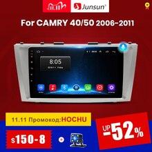 Junsun Radio Multimedia V1 con GPS para coche, Radio con reproductor, Android 10, 2 GB + 32 GB, DSP, 2 din, para Toyota Camry 40, 50, 2007, 2008, SIN dvd